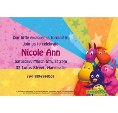 Custom The Backyardigans Invitations