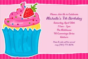 Custom Sweet Treat Invitations