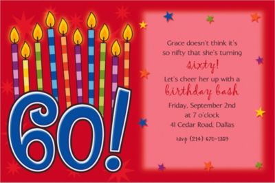 Great Birthday 60 Custom Invitation