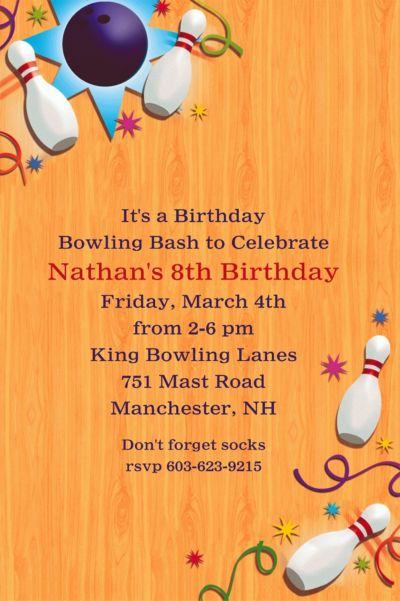 Let's Bowl Custom Invitation
