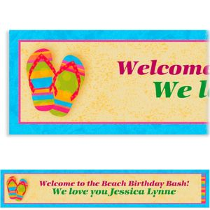 Custom Flip Flops Summer Banner 6ft