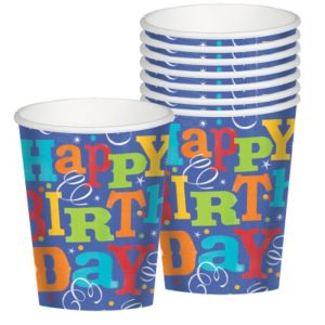 Birthday Fever Cups 8ct