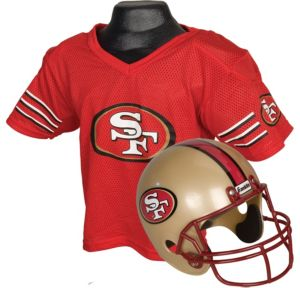 Child San Francisco 49ers Helmet & Jersey Set