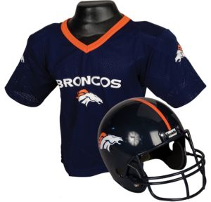 Child Denver Broncos Helmet & Jersey Set