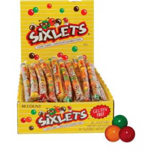 Chocolate Sixlets Tube Packs 48ct