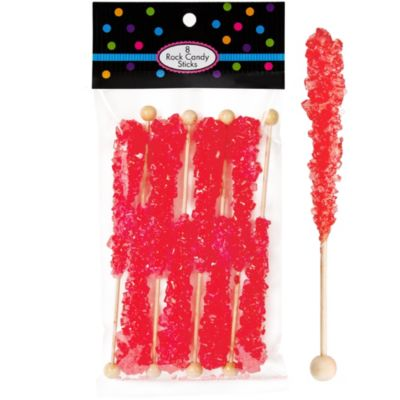 Red Rock Candy Sticks 8pc