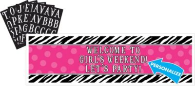 Personalized Banner - Zebra Party