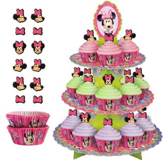 Deluxe Minnie Mouse Cupcake Kit for 24