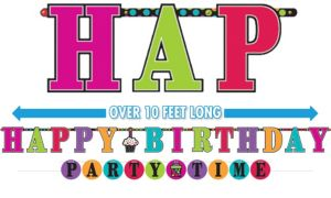 Happy Birthday Banners 2ct - Rainbow Dot