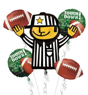Football Balloon Bouquet 5pc