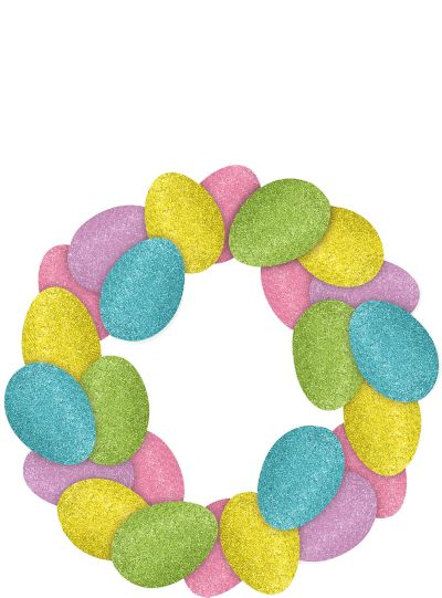Glitter Easter Egg Wreath
