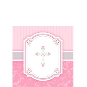 Girl's Communion Blessings Beverage Napkins 16ct