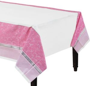 Girl's Communion Blessings Plastic Table Cover