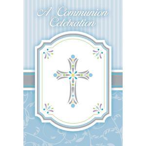 Boy's Communion Blessings Postcard Invitations 20ct