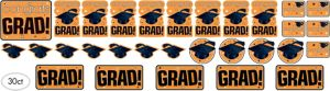 Orange Graduation Cutouts 30ct