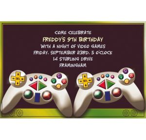 Custom Video Game Invitations