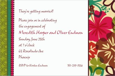 Custom Natural Instincts Luau Invitations
