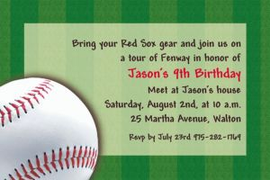 Custom Baseball Fun Invitations