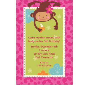 Custom Monkey Love Invitations