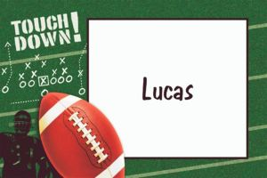 Custom Football Frenzy Thank You Notes
