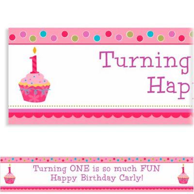 Custom Sweet Little Cupcake Girl Banner 6ft