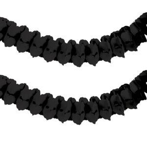 Black Paper Garland