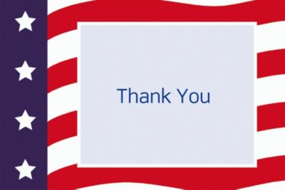 Custom All American Welcome Home Thank You Notes