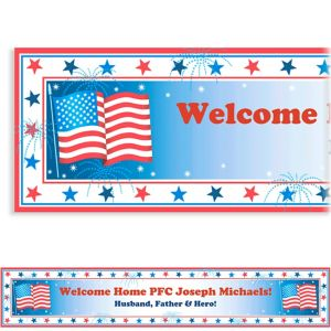 Custom Star Spangled Banner Welcome Home Banner 6ft