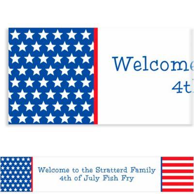 Custom Red, White & Blue Stars Patriotic Banner 6ft