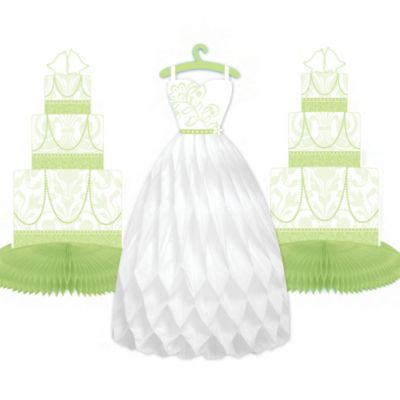Honeydew Wedding Honeycomb Centerpieces 3pc
