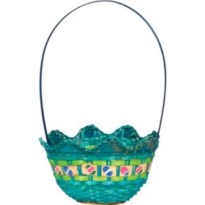 Blue Egg Shaped Easter Basket
