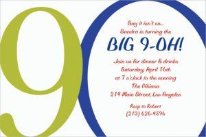 Custom Great Big 90th Invitations