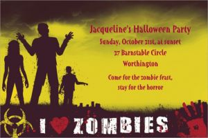 Custom Beware Zombies Halloween Invitations