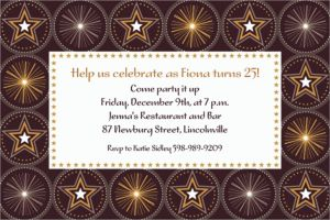 Custom Glitter Starz Invitations