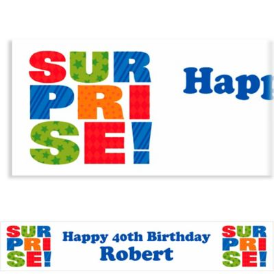 Surprise Block Custom Banner 6ft