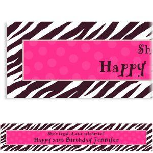 Custom Zebra Party Banner 6ft