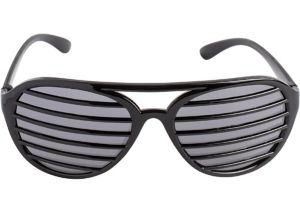 Black Slotted Shades