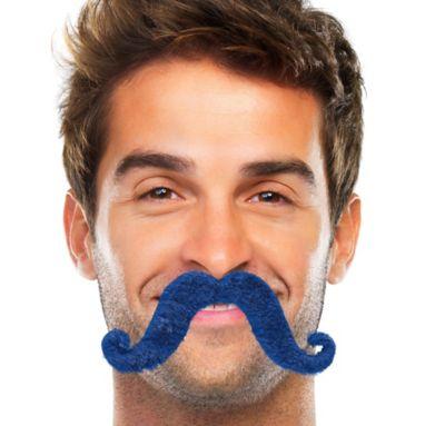 Blue Handlebar Moustache