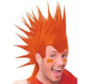Orange Mohawk Wig