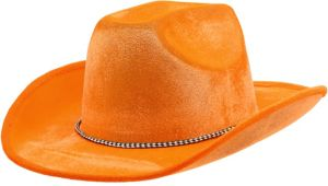 Orange Suede Cowboy Hat