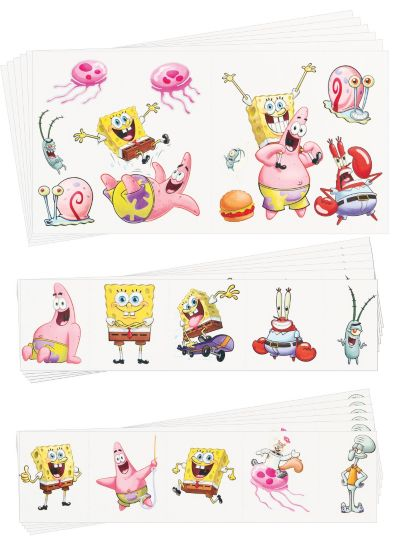 SpongeBob Tattoo Value Pack 72ct