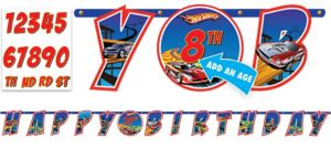 Hot Wheels Letter Banner 10 1/2ft