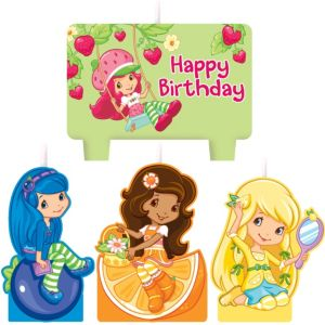 Strawberry Shortcake Birthday Candles 4ct