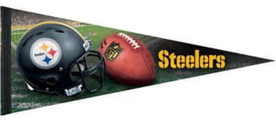 12e525312 Premium Pittsburgh Steelers Pennant Flag 30in x 12in   Party City Canada
