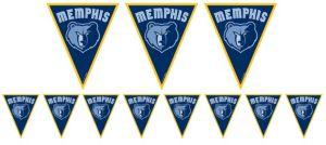 Memphis Grizzlies Pennant Banner