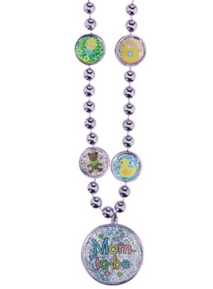 Mom to Be Pendant Bead Necklace
