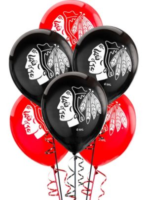 Chicago Blackhawks Balloons 6ct