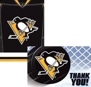 Pittsburgh Penguins Invitations & Thank You Notes for 8