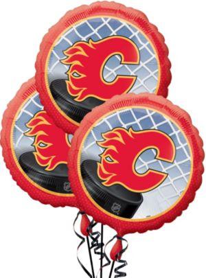 Calgary Flames Balloons 3ct