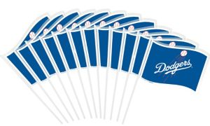 Los Angeles Dodgers Mini Flags 12ct